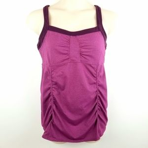 Athleta Magenta Sinch Workout Tank Top Size XL